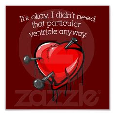 Anti-Valentine Broken Heart Print
