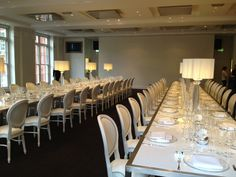 BAFTA 195 London Event Venue - The David Lean Room - Formal dinner long tables