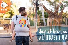 We are celebrating 'Roar!', our Tula baby carrier commemorating the San Diego Zoo's centennial, with our babywearing dad!
