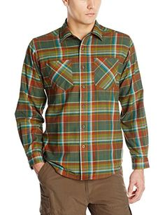 ExOfficio Mens Geode Flannel Long Sleeve Shirt