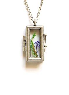 Terrarium Necklace Botanical Jewelry Moss by teenytinyplanet