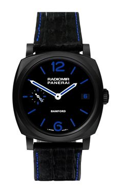 Panerai Radiomir In Blue by Bamford Watches for Preorder on Moda Operandi