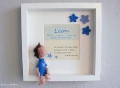 Weiteres - Schutzengel-Junge & Rahmen Geschenk Geburt ... - ein Designerstück von Filz-Michel bei DaWanda