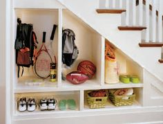 Kinsley Place- built in- under stairs