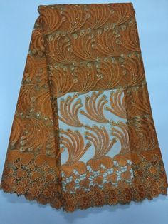 African Net Lace Floral Embroidered Nigerian French Lace XD107-1  https://www.lacekingdom.com/