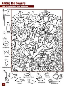 free printables for kids education math Hidden Picture Games, Hidden Picture Puzzles, Preschool Printables, Preschool Activities, Alphabet Activities, Free Printables, Hidden Pictures Printables, Coloring Books, Coloring Pages