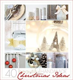 These are some of the most beautiful Chrismas crafts and ideas that I've seen around!