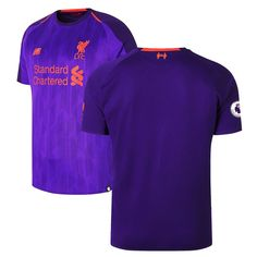 65600b401 Liverpool New Balance Youth 2018 19 Away Replica Patch Jersey – Purple