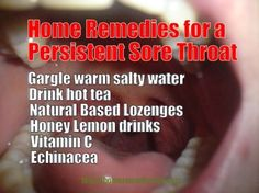 Persistent Sore Throat - Causes and Treatments