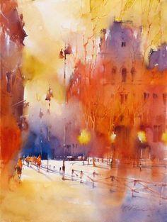 by Viktoria Prischedko #watercolor jd