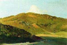Sur les pics de laïla, huile sur toile de Isaac Levitan (1860-1900, Lithuania)