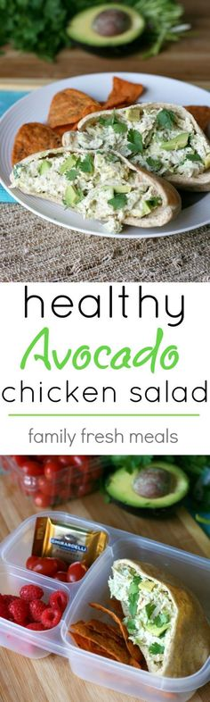 Healthy Avocado Chicken Salad Recipe If you love chicken salad and avocados then you are going to go gaga for this recipe!