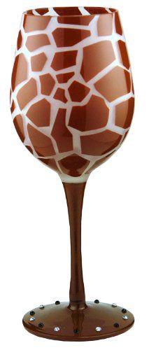 Impressive and unique giraffe wine glass