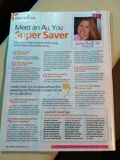 Couponing Tips from an All You Magazine Super Saver