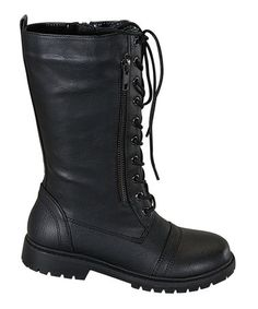 Loving this Black Rumba-K Lace-Up Boot on #zulily! #zulilyfinds