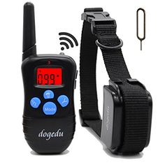 Dogedu Du998dr1 Rechargeable and Rainproof Dog Training Shock Electronic Electric Collar for 1 Dog with Remote,vibration and Safe Beep (2015 New Modle Update) dogedu http://www.amazon.com/dp/B00OFUID6Y/ref=cm_sw_r_pi_dp_GH-Ywb1BE559F