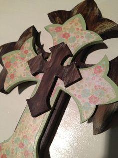Decorative Wooden Hanging Wall Cross. $16.50, via Etsy.