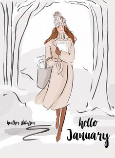 Hello January by Rose Hill Designs Seasons Months, Days And Months, Months In A Year, Hello January Quotes, Rose Hill Designs, Art Altéré, Hello Weekend, New Month, Jolie Photo