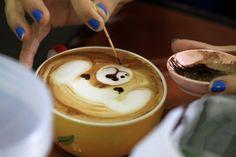 The mouth...#dog #latte Love Photography, Dogs, Coffee Love, Latte, Drinks, Tableware, Coffee Milk, Dinnerware, Tablewares