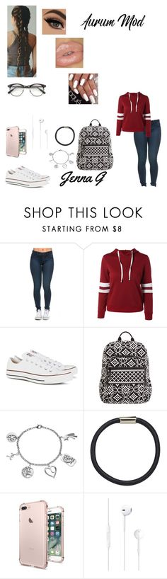 """""""34th day of school...♡"""" by iamjennagarcia on Polyvore featuring Converse, Vera Bradley, Love This Life, Hershesons and ZeroUV"""