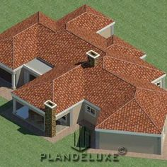 5 bedroom Single Story House Floor Plan | Home Designs | Plandeluxe 4 Bedroom House Designs, 5 Bedroom House Plans, Ranch House Plans, Craftsman House Plans, House Floor Plans, Single Storey House Plans, Double Storey House, House Plans For Sale, House Plans With Photos