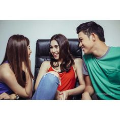 "This is the lovely Miles Ocampo, the pretty Julia Barretto, and the handsome Iñigo Pascual smiling having a light conversation during the taping of the ABS-CBN 2015 Christmas Station ID theme song, ""Thank You for the Love!"" Indeed, Miles, Julia, and Iñigo are amazing Kapamilya talents and amazing Star Magic talents. They're also kind and helpful. #JuliaBarretto #MilesOcampo #IñigoPascual #AndILoveYouSo #ABSCBNChristmasStationID #ThankYoufortheLove Child Actresses, Child Actors, Inigo Pascual, Enrique Gil, Star Magic, Daniel Padilla, Liza Soberano, Jadine, Filipina"