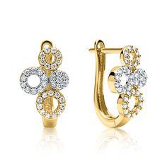 Creole 333er Gold mit Zirkoniasteinen gold GE0270 https://www.thejewellershop.com/ #gold #ohrstecker #ohrschmuck #earrings #ohrringe #zirkonia #creolen #jewelry #schmuck
