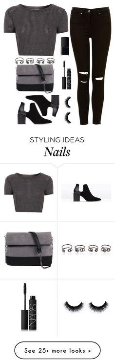 """Untitled #466"" by zirax on Polyvore featuring moda, Maison Margiela, Topshop, 7 Chi, Zara e NARS Cosmetics"