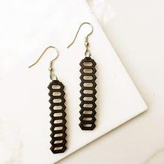 Coconut Honeycomb Earrings
