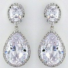 Wedding jewelry...gorgeous earrings