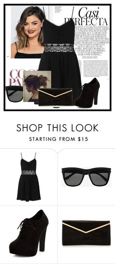 """""""Sans titre #833"""" by tva-lpz ❤ liked on Polyvore featuring Topshop, Yves Saint Laurent, New Look and Whiteley"""