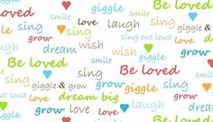 Giggle and Grow Words collection  100 Cotton by LittleMeSupplies, £2.40