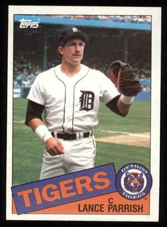 1985 topps #160 lance parrish nm/mt f1346 from $1.1