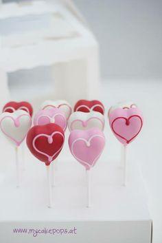 LOVEly Cake Pops - Heart Cake Pops Valentines Baking, Valentine Cake, Cupcake Ideas, Cupcake Cakes, Cupcakes, Cakepops, Wedding Anniversary, Balls, Cake Decorating