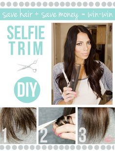 Trim your split ends without getting shorter hair. Definately gonna try this