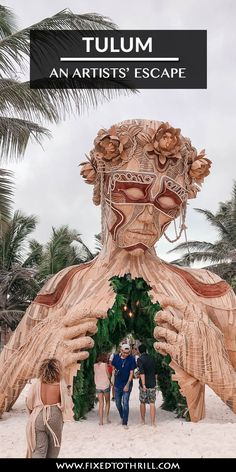 If you love unique art you'll love visiting Tulum. It was alive with art just about everywhere from downtown to the beach. Tulum Mexico, Maui Vacation, Vacation Ideas, Mexico Travel, Hawaii Travel, Best Weekend Getaways, Beautiful Places To Travel, Travel Destinations, Holiday Destinations