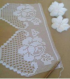"""🌹Elişi engüzel terapi🌹 su Instagram: """"#alıntı"""" Crochet Borders, Crochet Chart, Filet Crochet, Easy Crochet, Crochet Stitches, Crochet Curtains, Crochet Doilies, Crochet Lace, Handmade Greetings"""