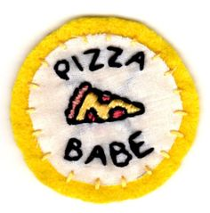 Pizza Embroidered Patch by mittenfingerz on Etsy