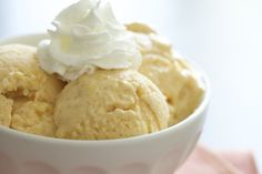3-Ingredient Peach Sherbet**use more peaches and less milk or sub for whipping heavy cream and/or some apple juice