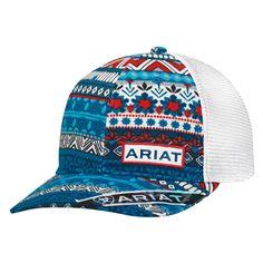 d626cbc92a9 Ariat Multi-Color Cotton Womens Floral Aztec Baseball Cap OS  fashion   clothing