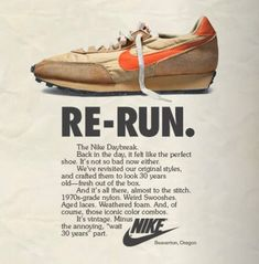c577125d9e0 Re-Run - Nike Daybreak - 40 Awesome Vintage Nike Sneaker Ads You Don t  Remember