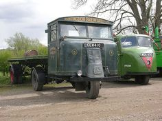 Scammell Mechanical Horse and a Scarab.
