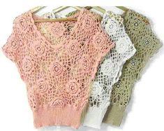 Blusas caladas sin patrón   CROCHET HERMOSO CROCHET   Pinterest