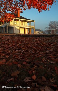 Fort Scott in Kansas, clothed in fall foliage.