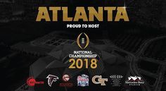 Atlanta and Mercedes-Benz Stadium have been chosen to host the 2018 College Football Playoff National Championship. #MBStadium
