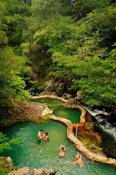 Thermal waters at the Hotel Hacienda Guachipelin at the base of the Rincon de la Vieja National Park, Guanacaste, Costa Rica