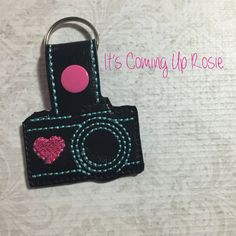 Camera Love Keychain  Zipper Pull  Snap Tab by ItsComingUpRosie