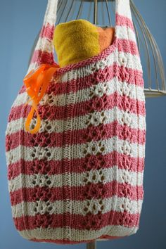 """Balls to the Walls Knits: Funner Summer Beach Bag Yeah, I know """"funner"""" isn't a word. But my kids don't, and that was the inspiration for this brightly striped, ..."""