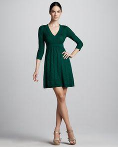 M Missoni Zigzag V-Neck Dress - Neiman Marcus