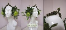 Spring Forest Headress by Lillyxandra.deviantart.com on @deviantART